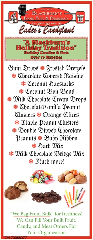 Holiday Candies & Nuts