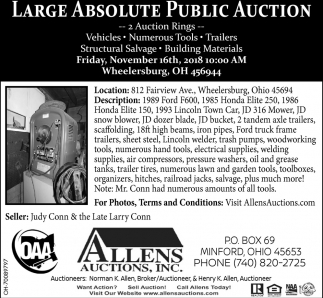 Large Absolute Public Auction