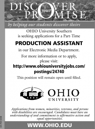 PRODUCTION ASSISTANT