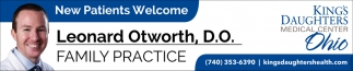 Leonard Otworth, D.O. Family Practice