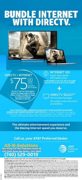 Bundle Internet With DirecTV