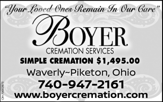 Simple Cremation $1,495.00