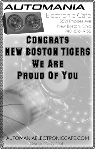 Congrats New Boston Tigers - We are Proud of You
