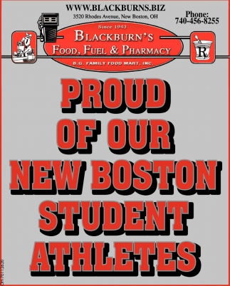 Proud of Your New Boston Student Athletes