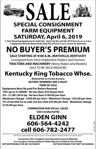 Special Consignment Farm Equipment