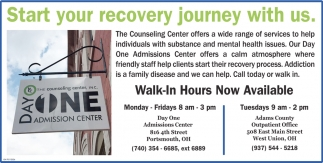 Start your recovery journey with us
