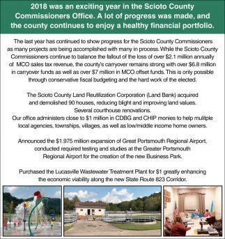 2018 was an exciting year in the Scioto County Commissioners Office