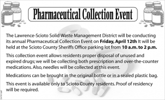Pharmaceutical Collection Event
