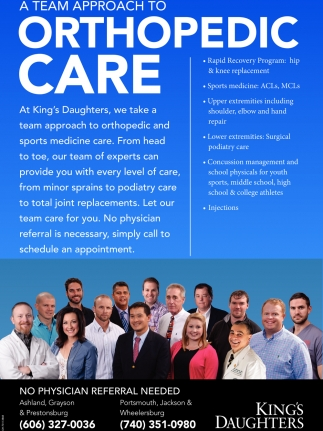 A team approach to Orthopedic Care