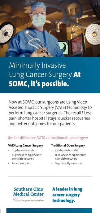 Minimally Invasive Lung Cancer Surgery it's possible
