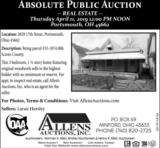 Absolute Public Auction - Real Estate