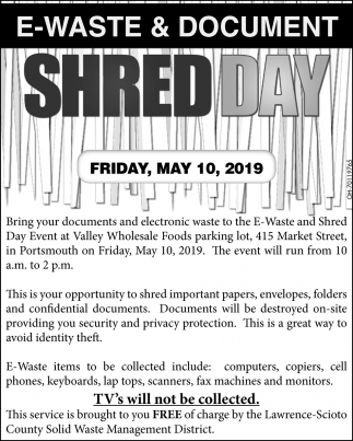 E-Waste & Document Shred Day