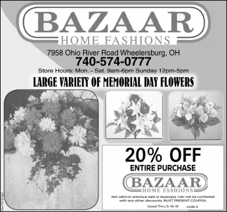 Large Variety of Memorial Day Flowers