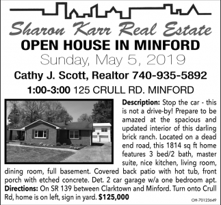Open House - 125 Crull Rd, Minford