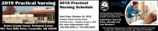2019 Practical Nursing Schedule