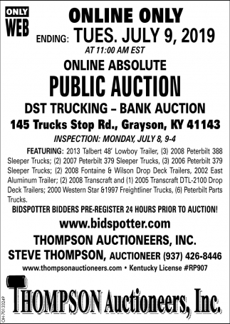 Online Absolute Public auction