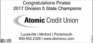 Congratulations Pirates 2017 Division 5 State Champions
