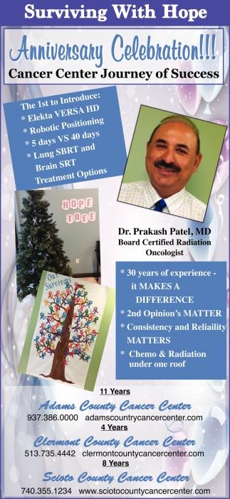 anniversary Celebration! Cancer Center Journey of Success