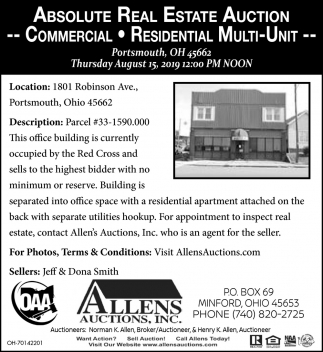 Absolute Real Estate Auction - Commercial - Residential - Multi-Unit