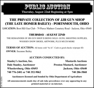 Public Auction August 22