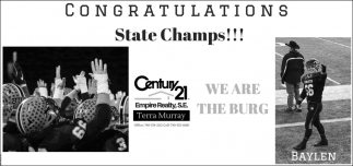 Congratulations State Champs!
