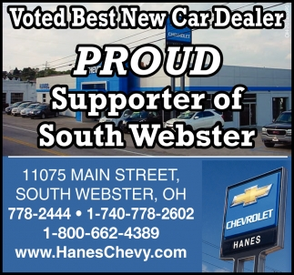 Voted Best New Carl Dealer - Proud Supporter of South Webster