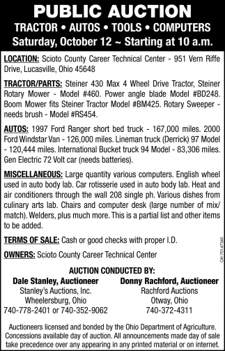 Public Auction - October 12