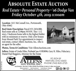 Absolute Estate Auction - October 4th