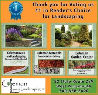 Thank you for Voting us #1 in Reader's Choice for Landscaping