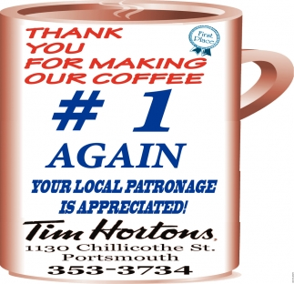 Thank You For Making Our Coffe #1 Again