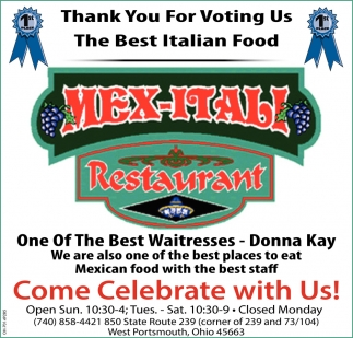 Thank You For Voting Is The Best Italian Food