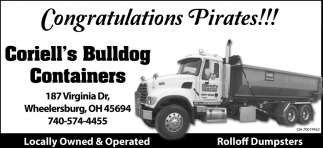Congratulations Pirates!!!