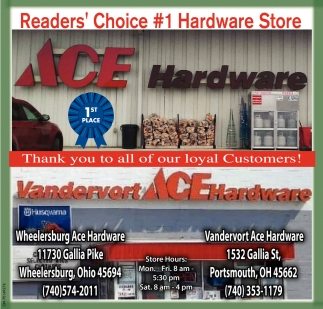 Reader's Choice #1 Hardware Store