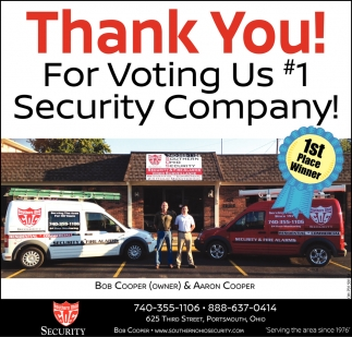 Thank You! For Voting Us #1 Security Company