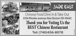 Thank you for Voting Us the Best Chinese Restaurant