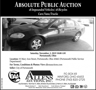 Absolute Public Auction - November 2