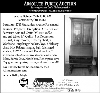 Absolute Public Auction - October 29th