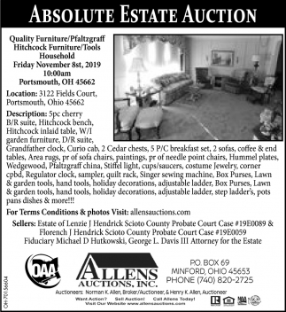 Absolute Public Auction - November 8st