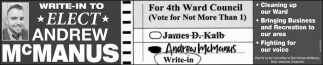 Andrew McManus For 4th Ward Council