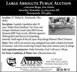 Large Absolute Auction - November 23