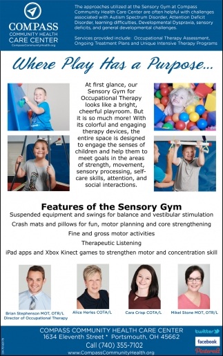 Features of the Sensory Gym