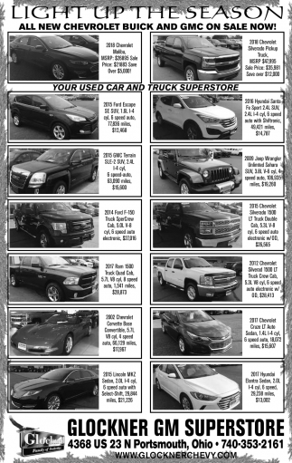 All New Chevrolet Buick and GMC on Sale Now!