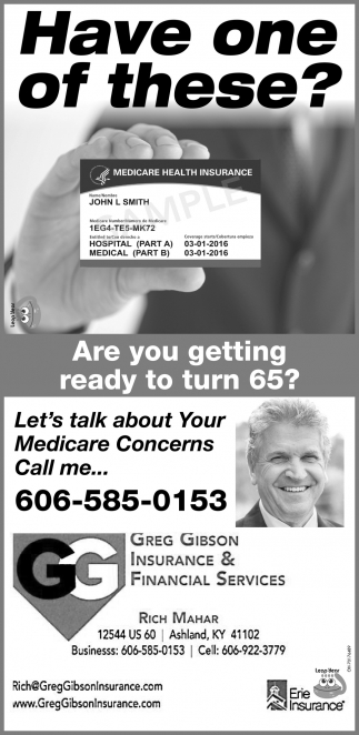 Let's talk about Your Medicare Concerns Call me...