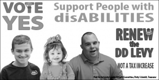 Vote Yes - Support People with Disabilities