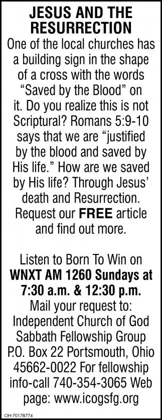 Jesus And the Resurrection