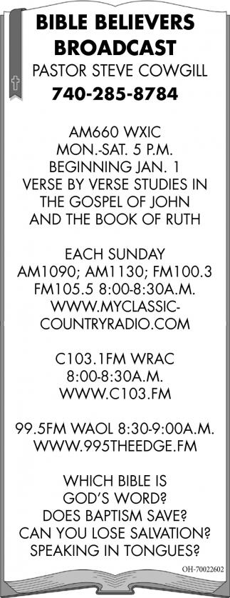 Bible Believers Broadcast