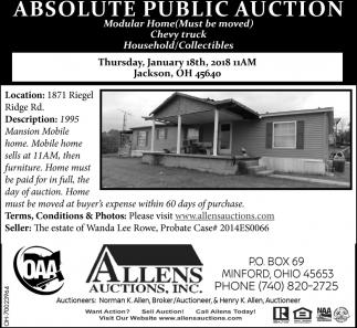 Absolute Public Auction