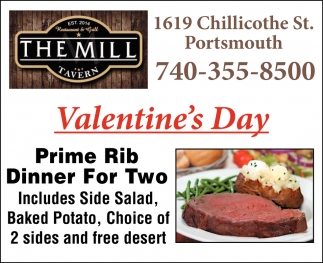 Valentine S Day The Mill Tavern Portsmouth Oh