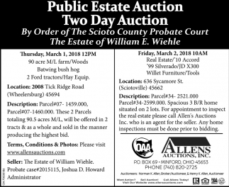 Public Estate Auction / Two Day Auction
