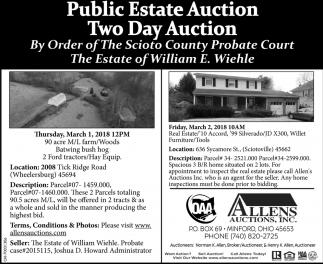 Public Estate Auction / Two Day Auction